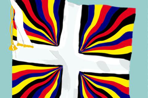 Flagge der Schweizergarden